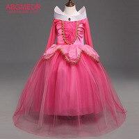 ABGMEDR Brand Cartoon Aurora Dress Girls Sleeping Beauty Dresses Clothes Children Christmas Clothing Kids Party Cosplay