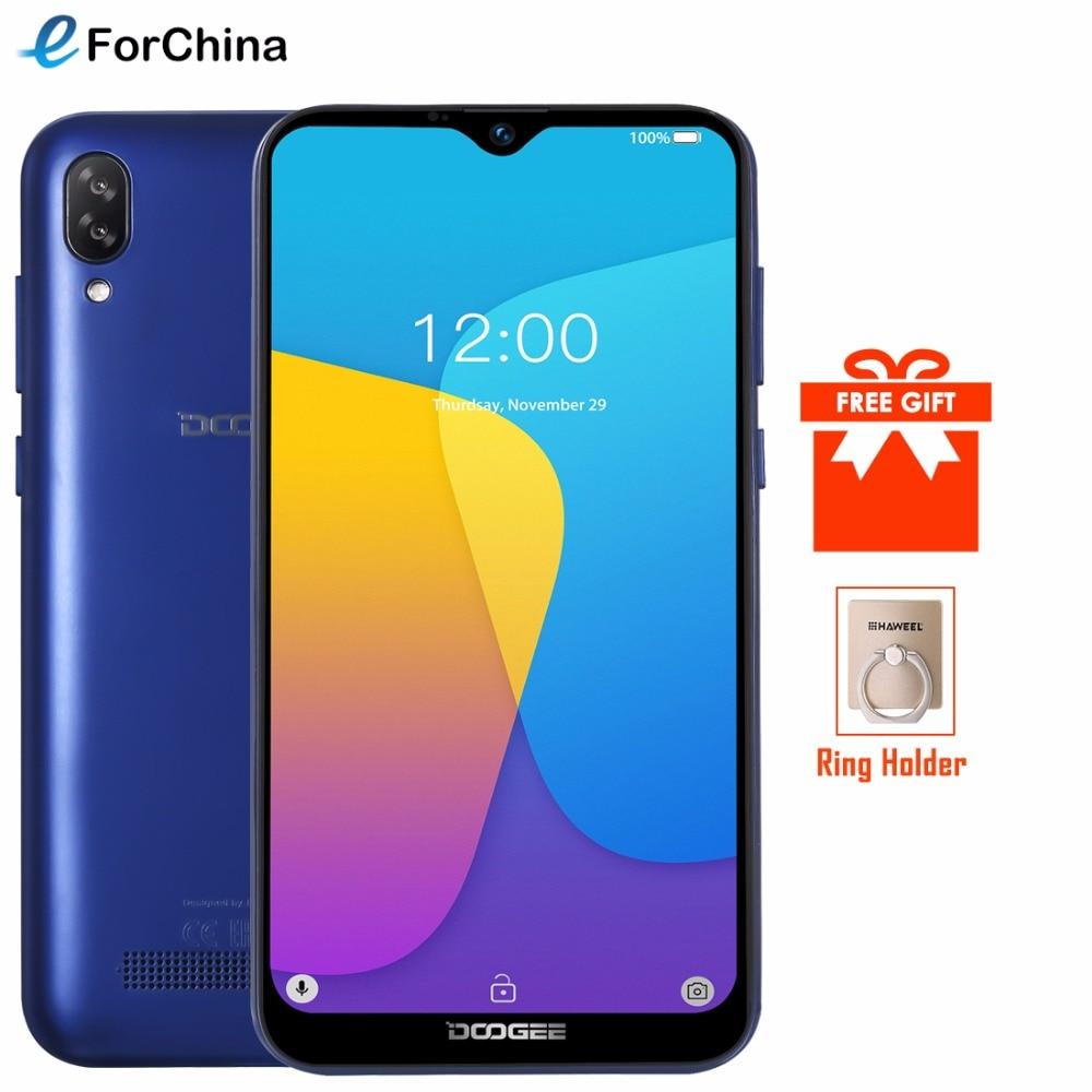 DOOGEE Y8c 6.1 cal 19:9 Waterdrop ekran LTPS smartfon odblokowanie twarzy 16 GB ROM 8MP + 5MP telefon komórkowy 3400 mAh z systemem Android 8.1 WCDMA w Telefony Komórkowe od Telefony komórkowe i telekomunikacja na AliExpress - 11.11_Double 11Singles' Day 1
