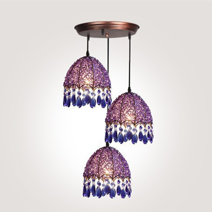 Bohemian Bronze Metal Led Pendant Chandeliers Lustre Crystal Dining Room Led Chandelier Lighting Led Hanging Lights Fixtures modern lustre crystal led chandelier lighting chrome metal living room led pendant chandeliers light led hanging lights fixtures