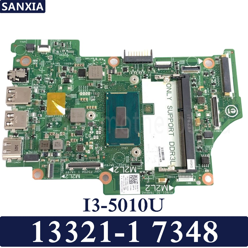 KEFU 13321 1 Laptop motherboard for Dell 7348 Test original mainboard I3 5010U