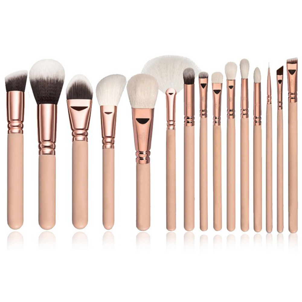 <font><b>15</b></font> stücke Professionelle Kosmetik Pinsel <font><b>Set</b></font> Pulver Blush Foundation Lidschatten Pinsel Make-Up-Tools image