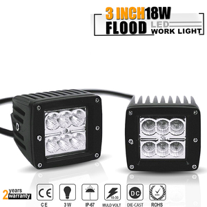 2PCS 18W 1260lm Flood Driving
