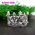 Bonito Mini Círculo Rodada Coroa de Cabelo Pérola, crianças Princesa Nupcial do vestido de Casamento Designs Cabelo Coroa Tiaras
