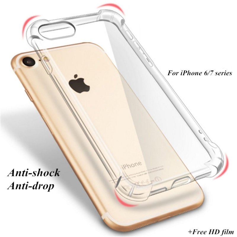 TPU Transparent Cover Full Protective Case for font b iPhone b font 6 6S Plus Ultra