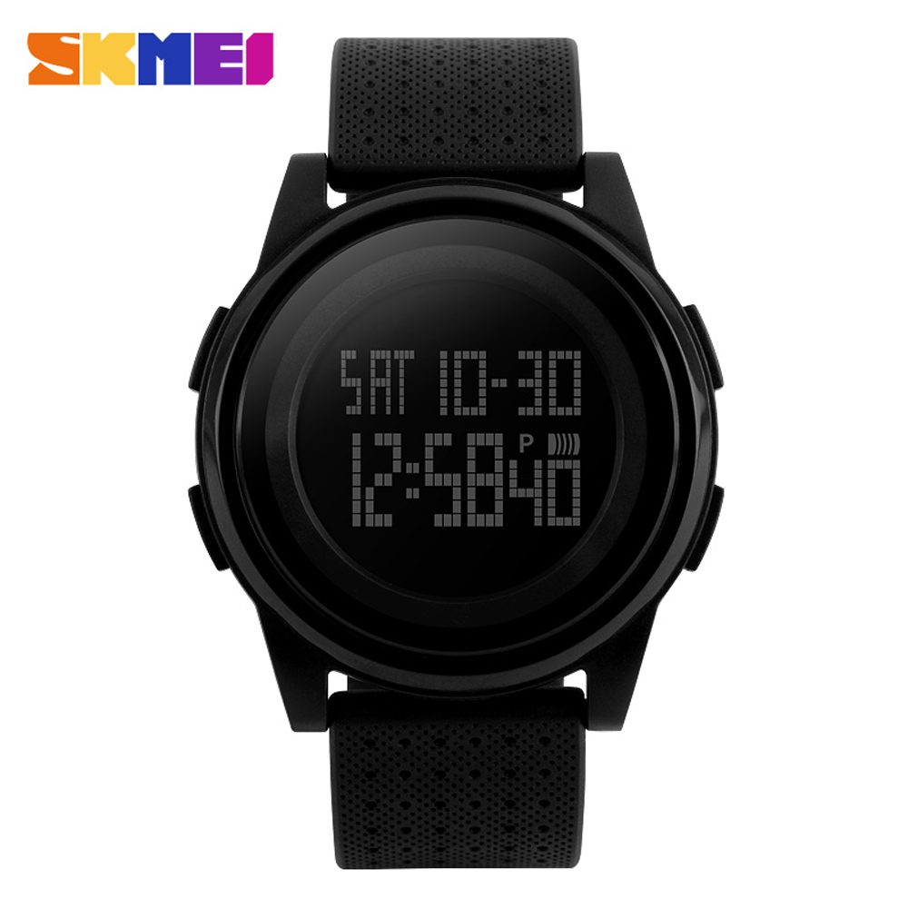 SKMEI 1206 Digital Mens Watches 5ATM Waterproof Sports Watches Men Male Sportwatch Outdoor Sport Calendar Clock Wristwatch