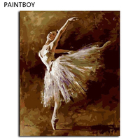 Oil Painting Frameless Picture Painting By Numbers Ballet Girl DIY Digital Canvas Oil Painting Home Decor