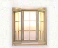 Estilo japonês pinho cânfora madeira pvc artesanato quadro da janela de madeira led ac 110/220 v corredor luminária de parede luminarias parágrafo