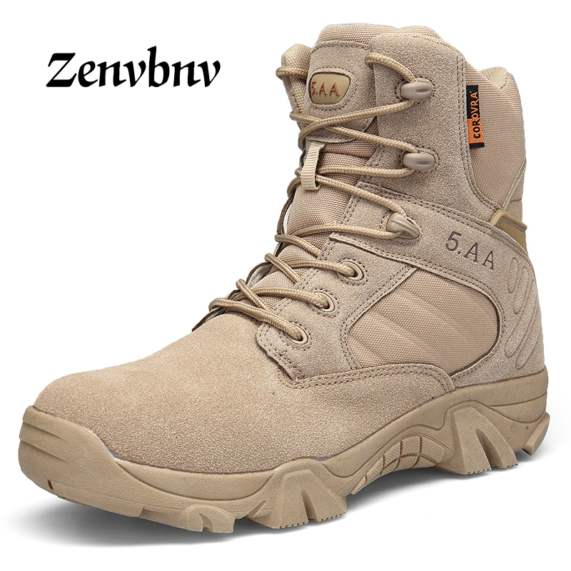 ZENVBNV Winter/Autumn Men Military Army Boots Special Force Waterproof Leather Desert Combat Work Shoes Tactical Ankle Boots Men цены