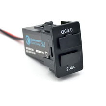 Qc3.0 USB Автомобильное Зарядное устройство Поддержка быстро ставить для Mitsubishi ASX Lancer Outlander Pajero для Iphone для iPad