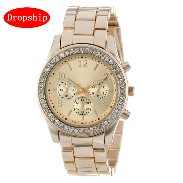 Fashion Dress Watches Men Women Faux Reloj Hombre Chronograph Quartz Plated Clas