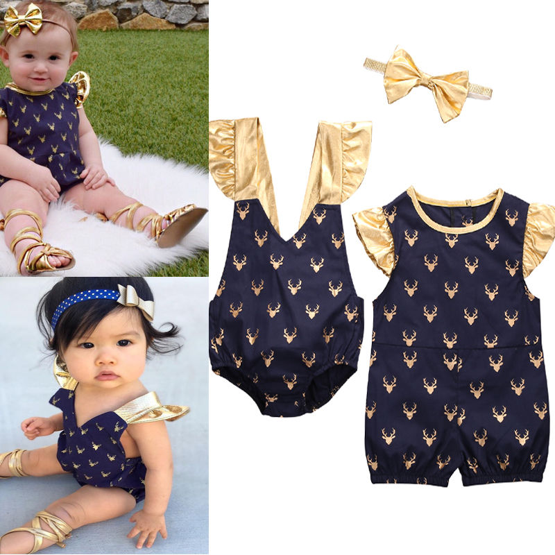 Blue V-neck&Round Neck Cotton Newborn Rompers Infant Baby Girls Romper Jumpsuit One-Pieces Clothes Outfits polka dot baby girls clothes backless flounced kid girls rompers jumpsuit playsuit one pieces outfits 0 18m blue pink purple
