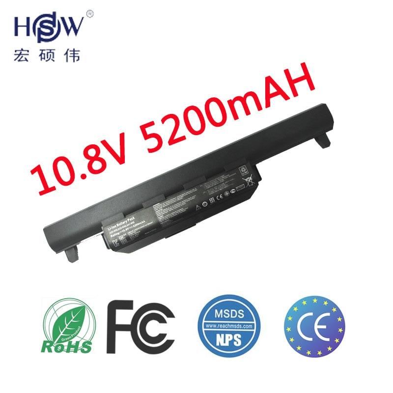 HSW laptop batteri för asus A33-K55 batterier A41-K55 A45 A55 batteri för bärbar dator A75 K45 K55 K75 X45 X55 X75 R400 R500 batteri