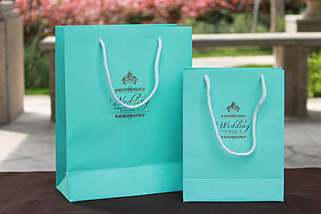 2017 Tiffany Blue Diy Gift Wedding Favor Bag Logo Personalized Hot