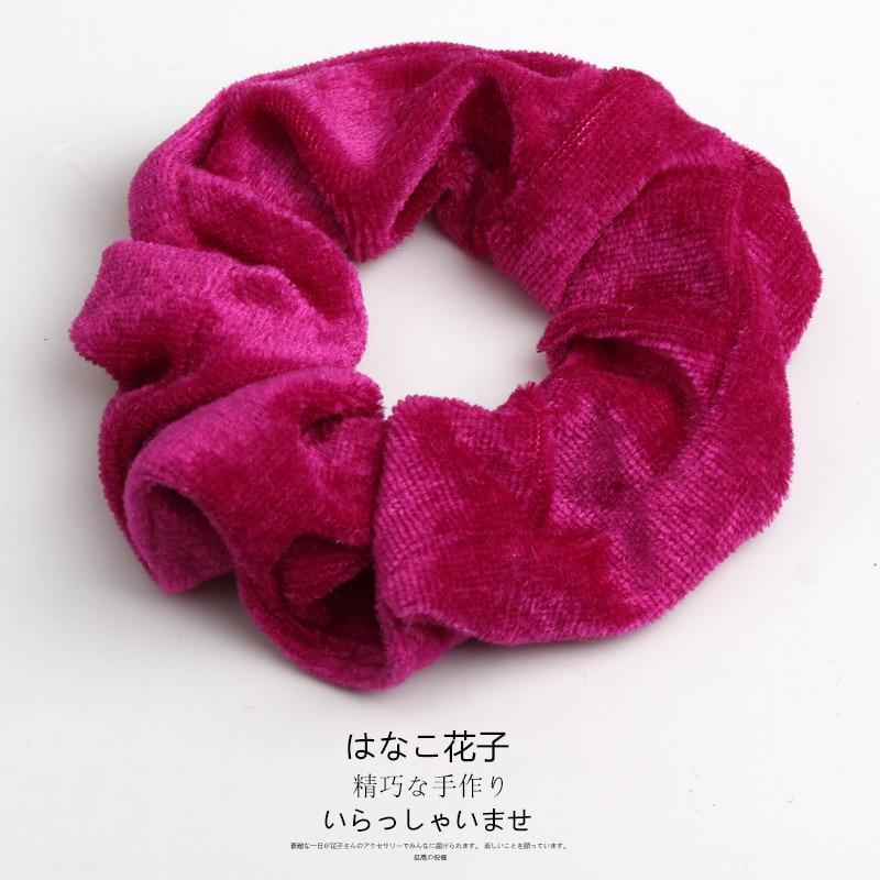 Женские бархатные резинки для волос, одноцветные резинки для волос, заколки для волос, эластичные резинки для волос, аксессуары для волос, головные уборы - Цвет: 34