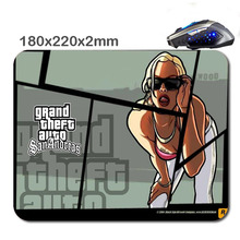 2016New Products DIY 3D Printing Theft Auto Imagenes por Mouse Pad Custom Rubber Gaming Laptop Computer Tablet Mouse Pad As Gift