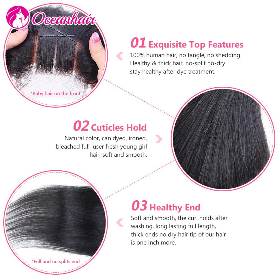 lace closure straight hair 1