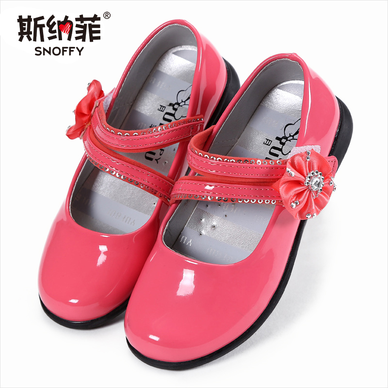 Hot Spring Big Girls Shoes Fashion Princess Slip-on Children Sneaker Leather Shoes For Girls Shoe Size 26-36
