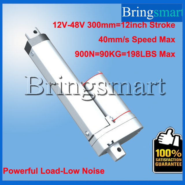 Wholesale Stroke 300mm(12 inch) Of The Dc Linear Actuator Motor With 12V-48V,50N-900N,5-40mm/s Use For DIY,Window Motor etc.