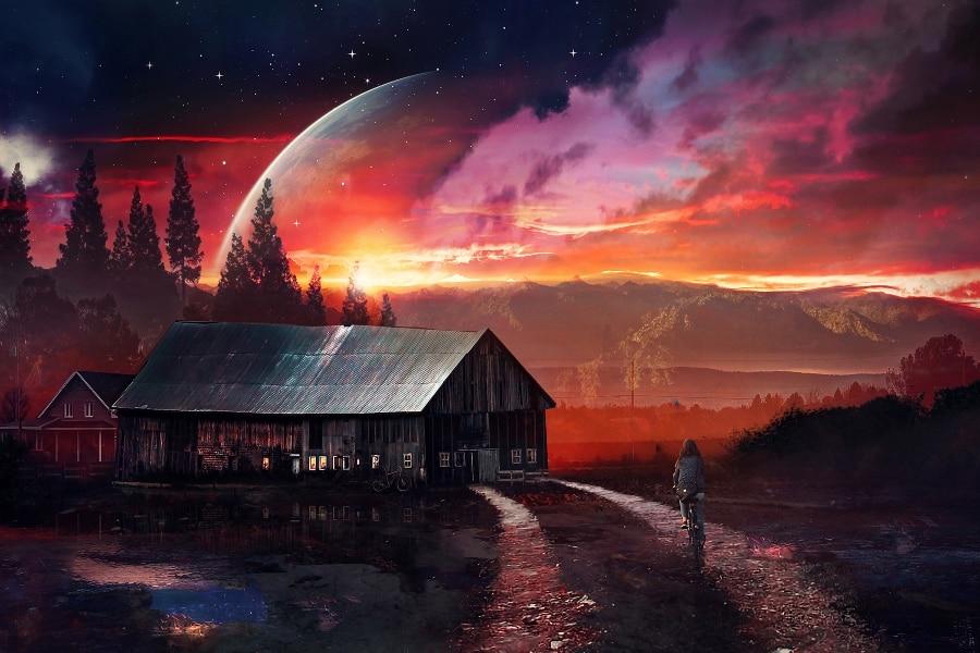 Achetez en gros paysages fantastiques affiche en ligne for Surreal salon 8