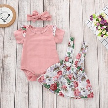 Giyu 3PCS/Set Cute Newborn Baby Girl Clothes 2019 Bodysuit
