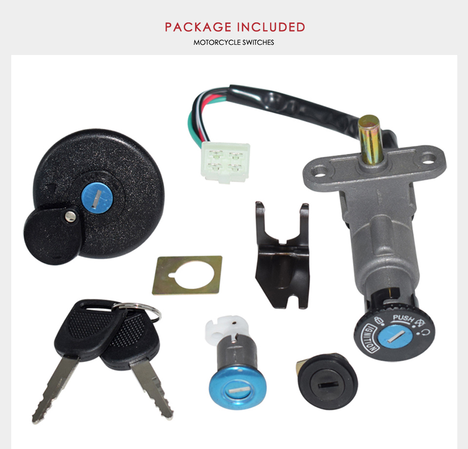 New Scooter Ignition Switch Key Set 139QMB 50 cc GY6 150 cc Chinese Scooter vip