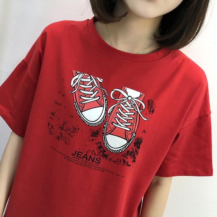 DZ Women Top T Shirt Harajuku Fruit Strawberry Print Punk B369