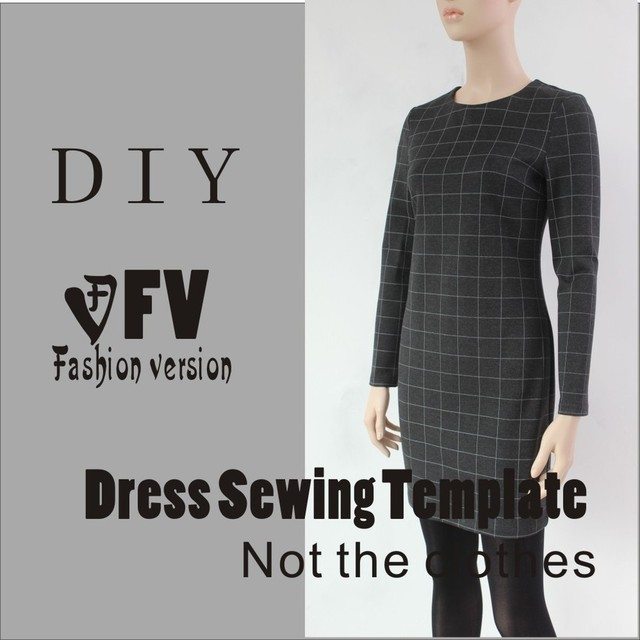 dresses sewing pattern template knit elasticity is very big cutting