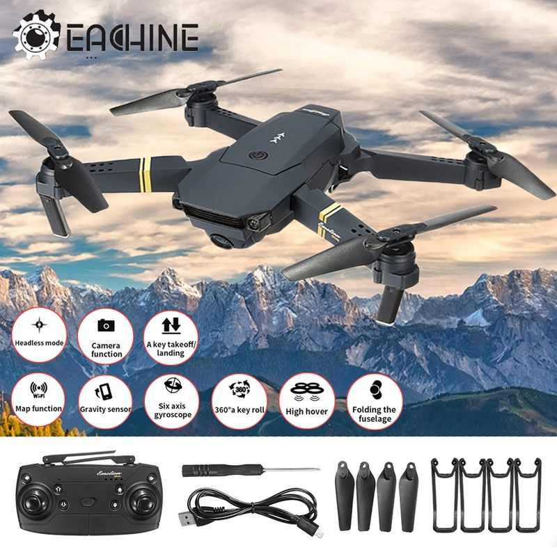In Stock Eachine E58 WIFI FPV 2MP Wide Angle HD Camera High Hold Mode Foldable Arm RC Quadcopter RTF VS VISUO XS809HW E52 E56