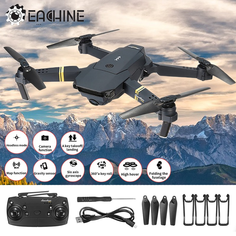 In Stock Eachine E58 WIFI FPV 2MP Wide Angle HD Camera High Hold Mode Foldable Arm RC Quadcopter RTF VS VISUO XS809HW E52 E56