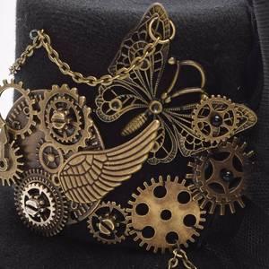 Image 5 - Vrouwen Steampunk Top Hoed Zwart Mini Haar Clip Haar Accessoires
