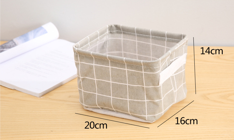Foldable Desktop Storage Basket Creative Bin Closet Toy Box Container Organizer Fabric Organizer Container Box Laundry Basket (11)
