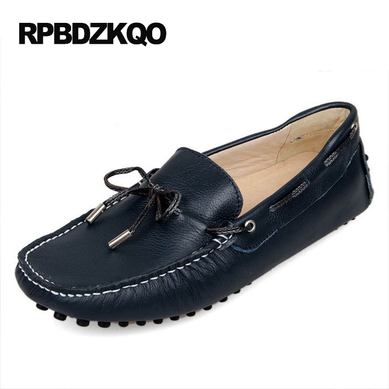Boat Soft Soled Men Casual Slip-ons Shoes Breathable Black Green Comfort Moccasins Summer Driving 2017 Slip On Fashion Hot Sale the spring and summer men casual shoes men leather lace shoes soled breathable sneaker lightweight british black shoes men