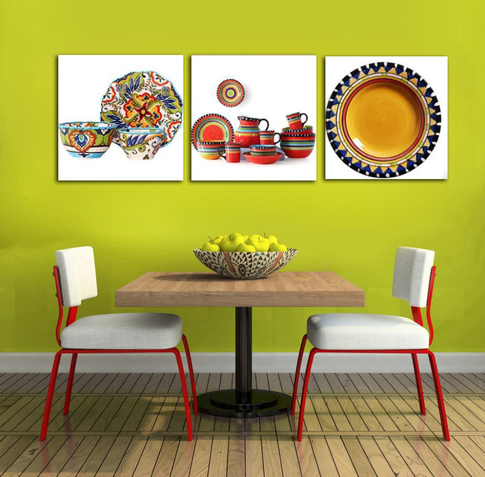 ALMUDENA Ceramic Flower Arrangement Art Vase Color Plate Painting ...