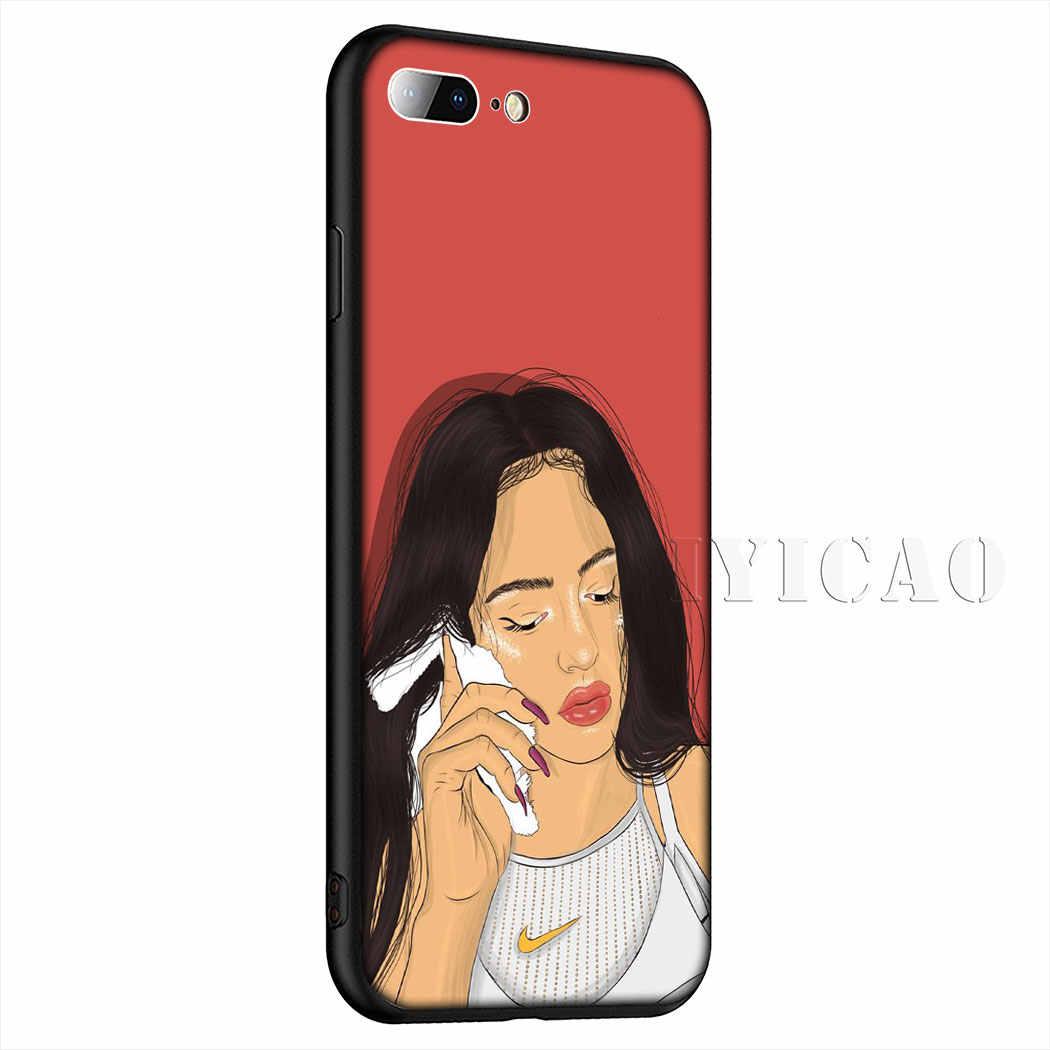Iyicao Indah Rosalia Lembut Ponsel Case untuk iPhone XR X XS Max 6 6 S 7 7 Plus 5 5 S SE Case