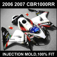 ABS Plastic Motorcycle Injection Fairings Kits For HONDA 06 07 CBR1000RR 2006 2007 CBR 1000RR Fireblade
