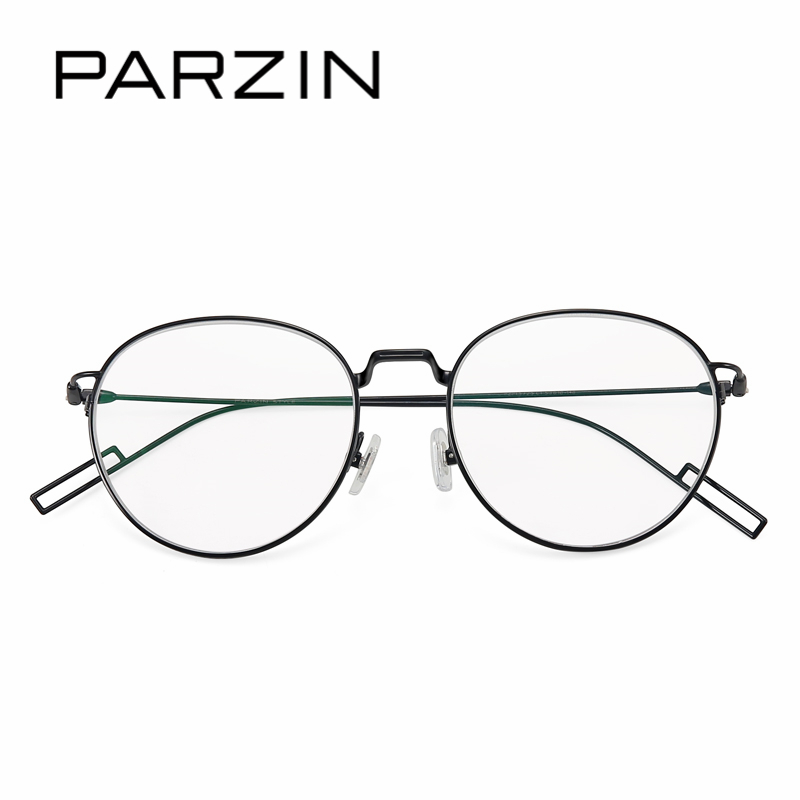 PARZIN Fashion Design Round Optical Frames With Clear Lens