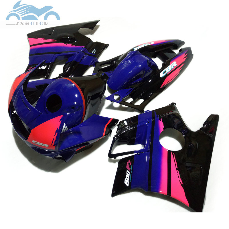 ABS plastic fairing kits for HONDA 1991 1992 1993 1994 CBR600 F2 blue pink road motorcycle