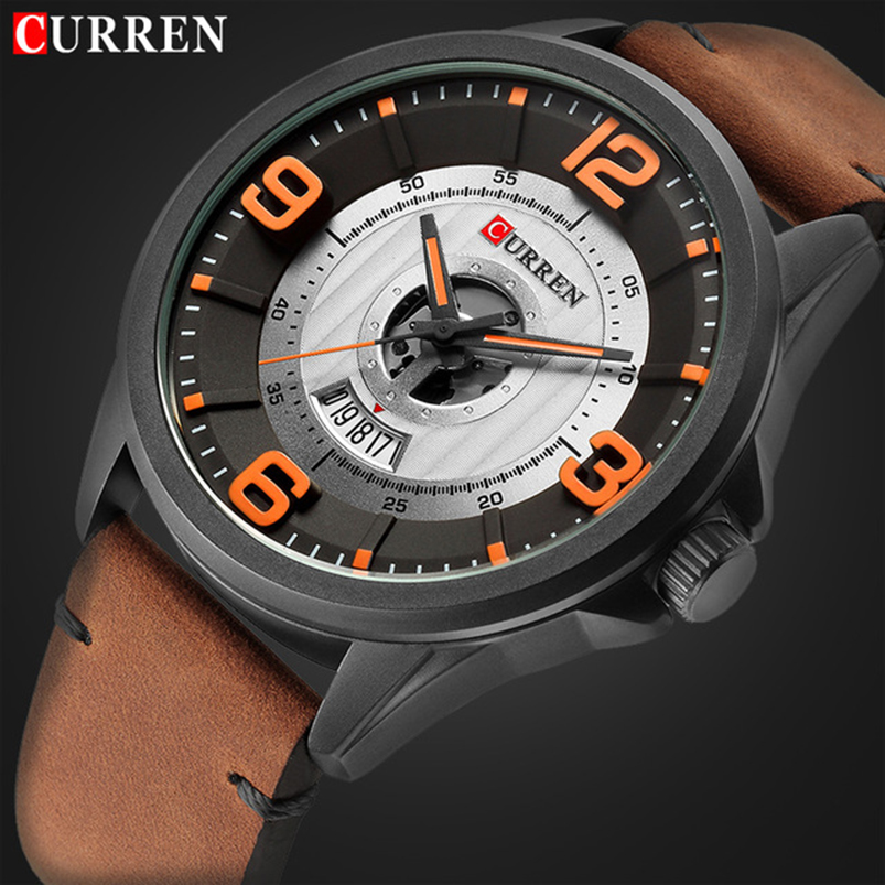 цены Relogio Masculino CURREN Luxury Watch Men Fashion Casual Sport Wristwatches Mens Leather Business Quartz Watches Male Date Clock