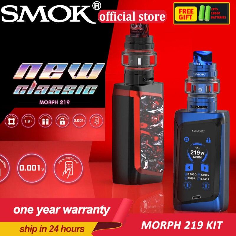 New Original Electronic Cigarette SMOK MORPH 219W Box Kit 6ml TF2019 Tank 1 9 Touch Screen