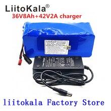 LiitoKala แบตเตอรี่ 36 V 500 W 18650 แบตเตอรี่ลิเธียม 36 V 8AH พร้อม bms แบตเตอรี่ไฟฟ้า PVC สำหรับไฟฟ้าจักรยาน
