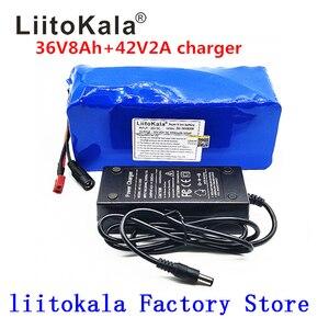 Image 1 - LiitoKala 36 V 500 W batteria 18650 batteria al litio 36 V 8AH Con bms batteria Elettrica della bici con il PVC caso per la bicicletta elettrica