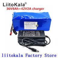 LiitoKala 36 V batería 500 W 18650 batería de litio 36 V 8AH con bms batería de bicicleta eléctrica con PVC funda para bicicleta eléctrica