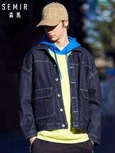дешево!  SEMIR Джинсовая куртка из 100% хлопка для мужчин Мужская джинсовая куртка Wash с капюшоном и передни