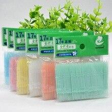 200 шт/партия мягкая пластиковая двухголовая кисточка палочка для зуба уход за полостью рта 6,3 см