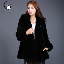 2016 new women's casual fashion in the long coat warm winter Rex fur fur female coat