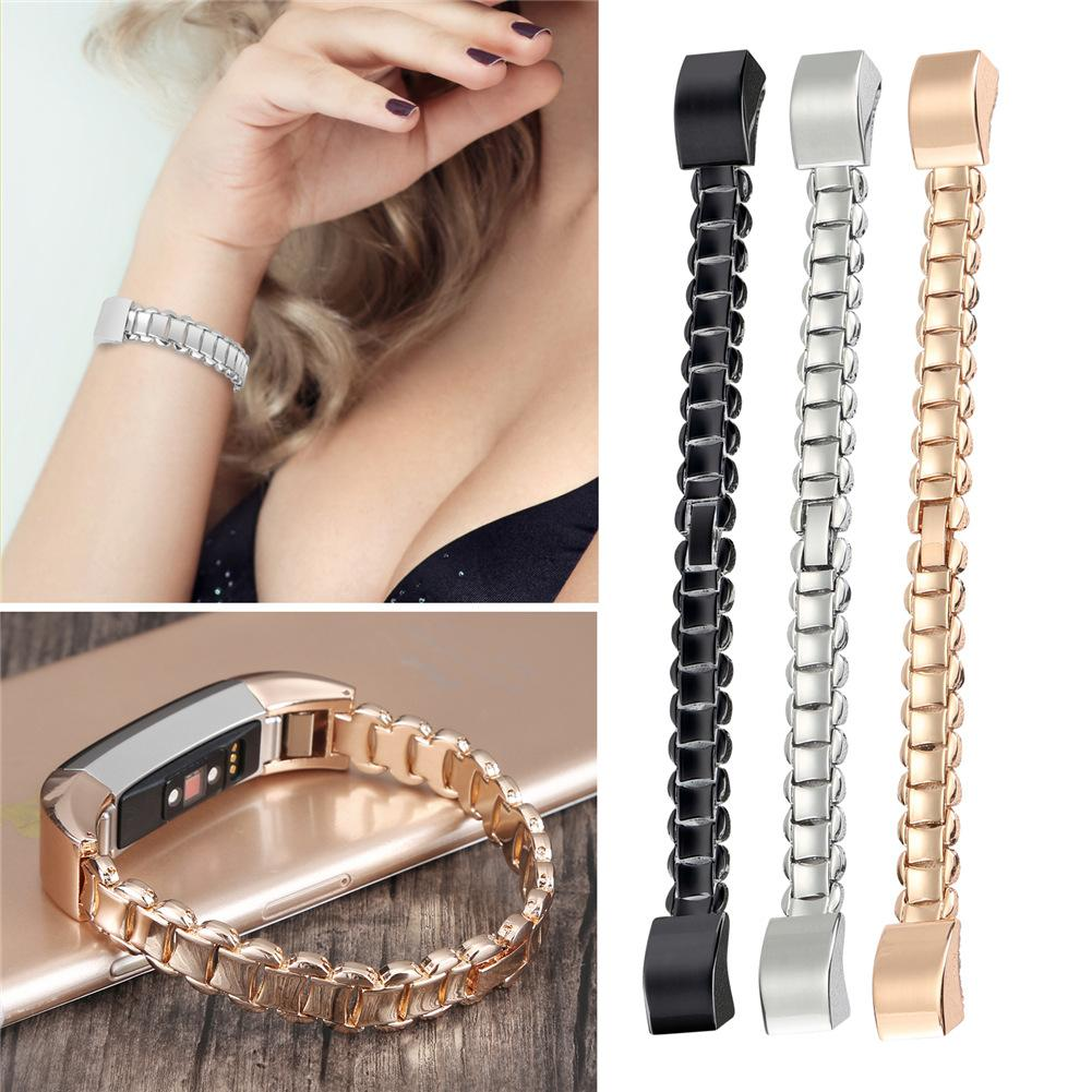 Gold Metal Stainless Steel Wrist Band Replacement Strap For Fitbit Alta HR Bracelet Strap Waterproof Women Smartband Accessories