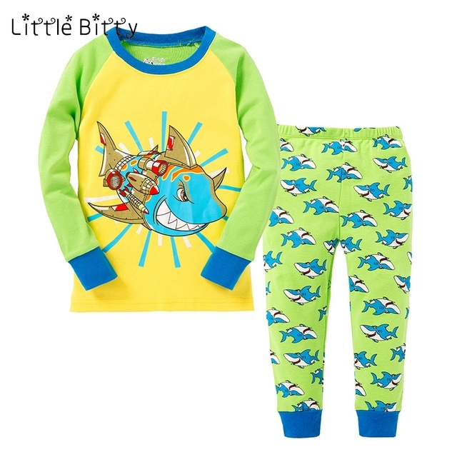 little bitty baby sleepwear kids shark pyjamas full sleeve pijamas  little bitty baby sleepwear kids shark pyjamas full sleeve pijamas children nightwear boys fish style pajama