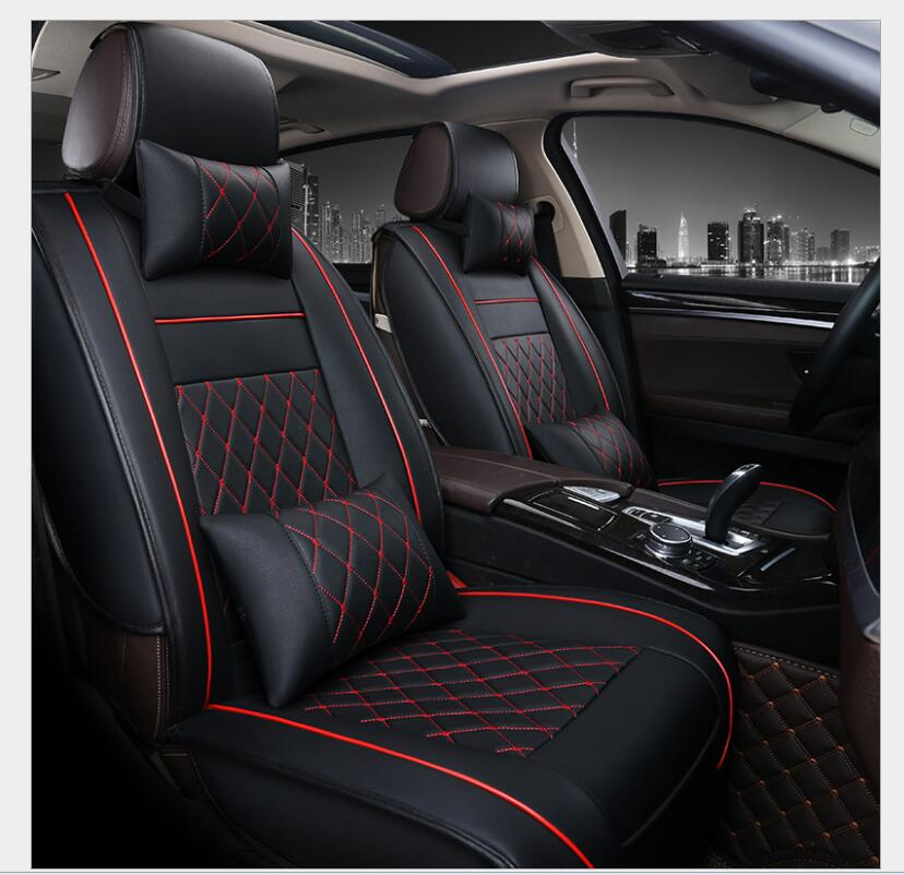 PU Leather Automotive Universal Car Seat Covers set Fit seat cover accessories for MAZDA 3 Mazda 6 CX5 CX7 323 626 M2 carstyling Automobiles Seat Covers    - title=