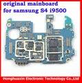 100% versión europea de trabajo placa base original para samsung galaxy s4 i9500 desbloqueado placa de circuito placa base