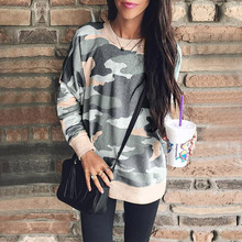 2019 New Autumn Winter Long Sleeve Sweatshirt Women Round Neck Casual Pullovers  Tops